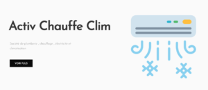 site activ chauffe clim réalisé par Referencemoi